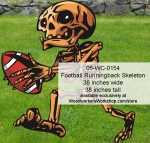 Football Skeleton Yard Art Halloween Woodworking Pattern