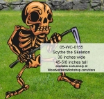 05-WC-0155 - Scythe the Skeleton Yard Art Woodworking Pattern