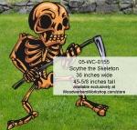 Scythe the Skeleton Yard Art Woodworking Pattern, scyhte,skeletons,Halloween,spooky,scary,yard art,painting wood crafts,scrollsawing patterns,drawings,plywood,plywoodworking plans,woodworkers projects,workshop blueprints