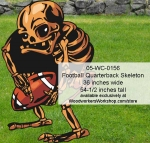 Football Quarterback Skeleton Yard Art Halloween Woodworking Pattern