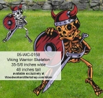 Viking Warrior Skeleton Yard Art Woodworking Pattern