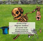 05-WC-0159 - Magician Skeleton Yard Art Woodworking Pattern