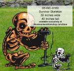 Survivor Skeleton Yard Art Woodworking Pattern, Survivor,skeletons,Halloween,spooky,scary,yard art,painting wood crafts,scrollsawing patterns,drawings,plywood,plywoodworking plans,woodworkers projects,workshop blueprints