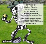 05-WC-0161 - Golfing Skeleton Yard Art Woodworking Pattern