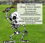 Temper Tantrum Skeleton Yard Art Woodworking Pattern