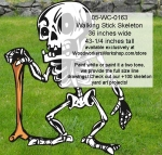 05-WC-0163 - Walking Stick Skeleton Yard Art Woodworking Pattern