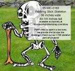 Walking Stick Skeleton Yard Art Woodworking Pattern