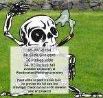 Mr Slick Skeleton Yard Art Woodworking Pattern, skeletons,Halloween,spooky,scary,yard art,painting wood crafts,scrollsawing patterns,drawings,plywood,plywoodworking plans,woodworkers projects,workshop blueprints