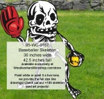 05-WC-0167 - Baseballer Skeleton Yard Art Woodworking Pattern