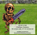 05-WC-0168 - Chainsaw Skeleton Yard Art Woodworking Pattern