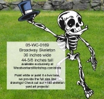 05-WC-0169 - Broadway Skeleton Yard Art Woodworking Pattern