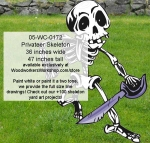 05-WC-0172 - Privateer Skeleton Yard Art Woodworking Pattern