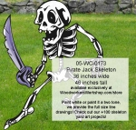 05-WC-0173 - Pirate Jack Skeleton Yard Art Woodworking Pattern