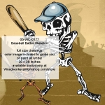05-WC-0177 - Baseball Batter Skeleton Yard Art Woodworking Pattern