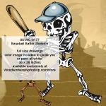 Baseball Batter Skeleton Yard Art Woodworking Pattern