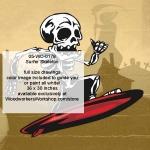 Surfer Skeleton Yard Art Woodworking Pattern