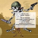 Soldier Skeleton Yard Art Woodworking Plan, soldiers,army,marines,patrol,knives,knife,gun,revolver,skeletons,Halloween,spooky,scary,yard art,painting wood crafts,scrollsawing patterns,drawings,plywood,plywoodworking plans,woodworkers projects,w