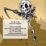 Slash the Skeleton Halloween Woodworking Pattern, sickle,knives,skeletons,Halloween,spooky,scary,yard art,painting wood crafts,scrollsawing patterns,drawings,plywood,plywoodworking plans,woodworkers projects,workshop blueprints