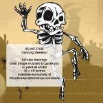 Dancing Skeleton Halloween Woodworking Pattern
