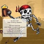 Beer Drinking Skeleton Halloween Woodworking Pattern