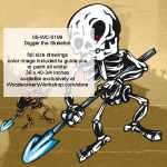 Digger the Skeleton Halloween Woodworking Pattern