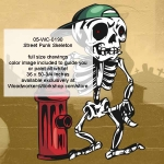 Street Punk Skeleton Halloween Woodworking Pattern