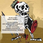 Warrior Skeleton Halloween Woodworking Pattern