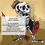 Warrior Skeleton Halloween Woodworking Pattern