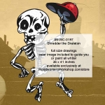 05-WC-0197 - Greeter Skeleton Halloween Woodworking Pattern