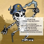 05-WC-0198 - Captain Peg Leg Skeleton Halloween Woodworking Plan Downloadable PDF