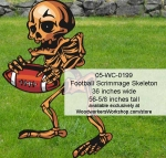 05-WC-0199 - Football Scrimmage Skeleton Yard Art Halloween Woodworking Pattern