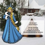 Snow Princess Yard Art Woodworking Pattern, Elsa,costume,Frozen,traditional,European,Christmas,snow princess,yard art,painting wood crafts,scrollsawing patterns,drawings,plywood,plywoodworking plans,woodworkers projects,workshop blueprints