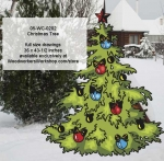 05-WC-0202 - Christmas Tree Yard Art Woodworking Pattern.