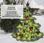 Christmas Tree Yard Art Woodworking Pattern.