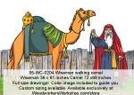 Wiseman Walking Camel Yard Art Woodworking Pattern