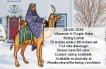 Wiseman in Purple Robe Riding Camel Yard Art Woodworking Pattern, wiseman,camels,Nativity,Christmas,wiseman,yard art,painting wood crafts,scrollsawing patterns,drawings,patterns for plywood outdoor nativity scenes,plywoodworking plans,woodworkers projects,workshop b