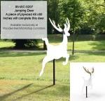 05-WC-0207 - Jumping Deer Yard Art Woodworking Pattern
