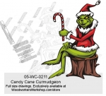 Grinch Candy Cane Curmudgeon Yard Art Woodworking Pattern