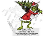 Grinch Christmas Tree Thief! Yard Art Woodworking Pattern.