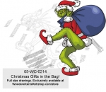 Grinch Christmas Gifts in the Bag! Yard Art Woodworking Pattern