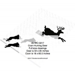 Coons Hunting Deer Yard Art Woodworking Pattern