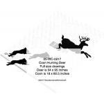 Coons Hunting Deer Yard Art Woodworking Pattern