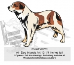 Airi Dog Intarsia Woodworking Pattern