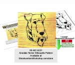 Airedale Terrier Silhouette Woodworking Pattern Downloadable PDF woodworking plan