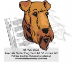 05-WC-0222 - Airedale Terrier Yard Art Woodworking Pattern