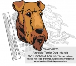 05-WC-0223 - Airedale Terrier Intarsia Scrollsaw Woodworking Pattern