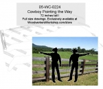 Cowboy Pointing the Way Silhouette Yard Art Woodworking Pattern