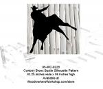 Cowboy Bronc Bustin Yard Art Woodworking Pattern