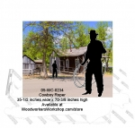 Cowboy Roper Silhouette Yard Art Woodworking Pattern