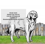 05-WC-0236 - Akbash Dog Yard Art Woodworking Pattern